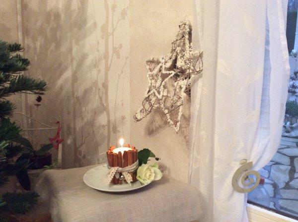 Un essai .  Vue chez une dame    D.un blog . En Déco florale