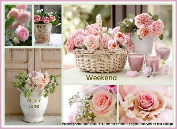 TRES bon Weekend c'est LE 1er weekend de l'ETE ET IL VAS ENÇORE PLEUVOIR.  ET OUI ''''