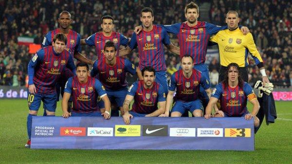 11 joeur F.C BARCELLONA