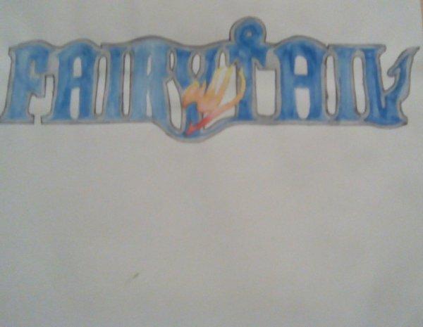Dessin fait par une amie partie4: Logo de Fairy Tail
