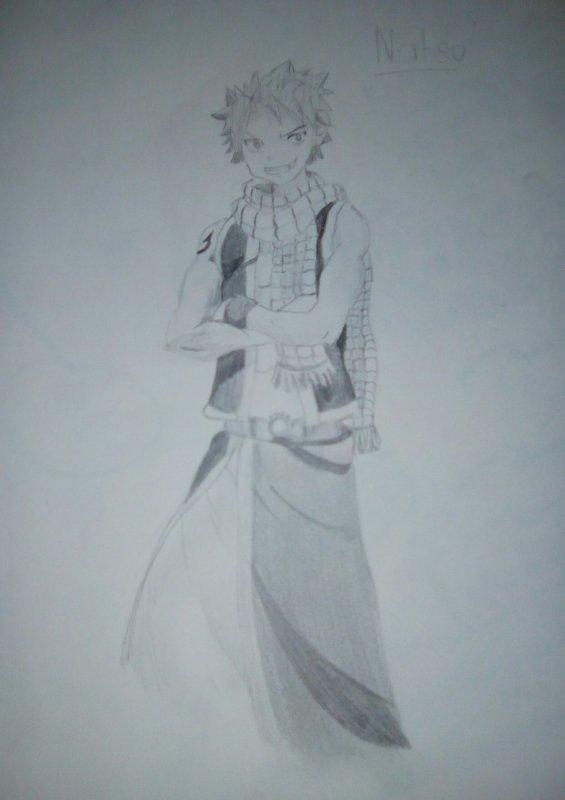 Dessin fait par une amie parti 3:  Natsu Dragneel