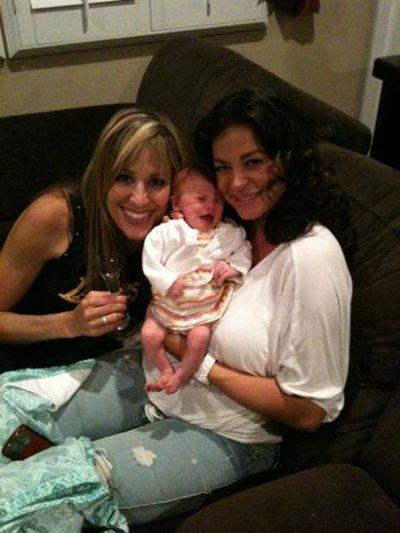 lillian garcia ,candice michelle et sa petite fille