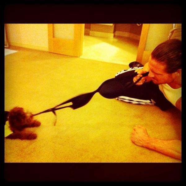 john M et son chien