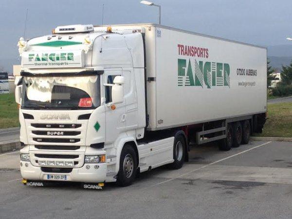 Transport FANGIER. Portes les Valence. Mars 2016.