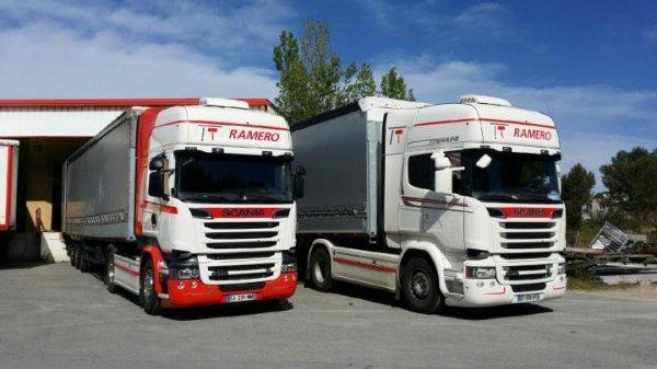 Transport Raméro. Les deux dernier de la flotte Raméro. Photo Philippe.