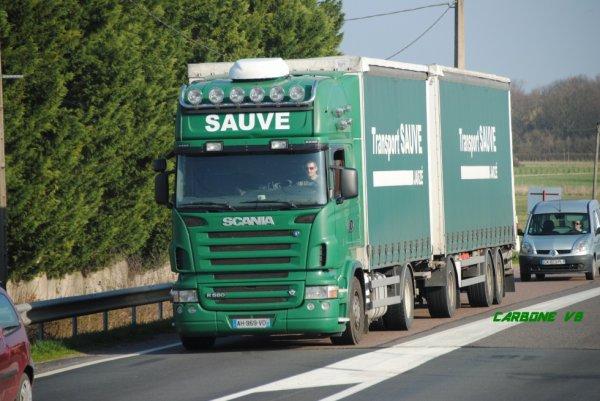 Transport Sauve. région de Roanne. Mars 2017.