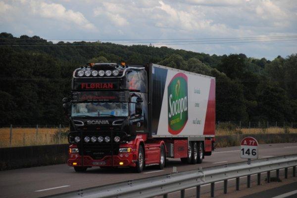 Florian et son Scania R580.