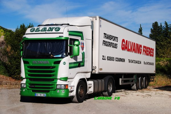 Transport Galvaing. Groupe Olano.