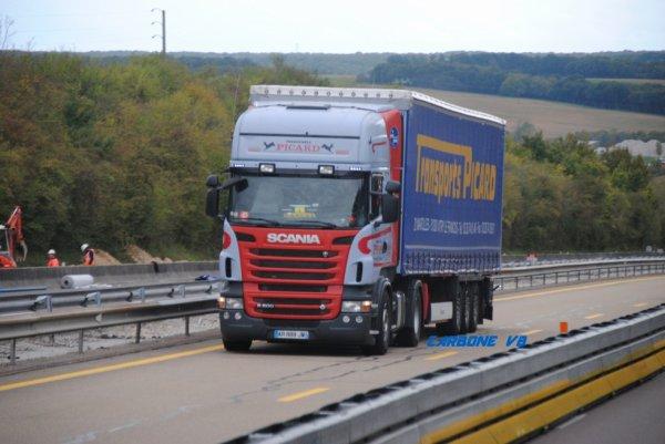 Transport Picard sur l'A6.