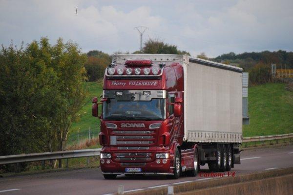 Transport Thierry Villeneuve sur l'A6.
