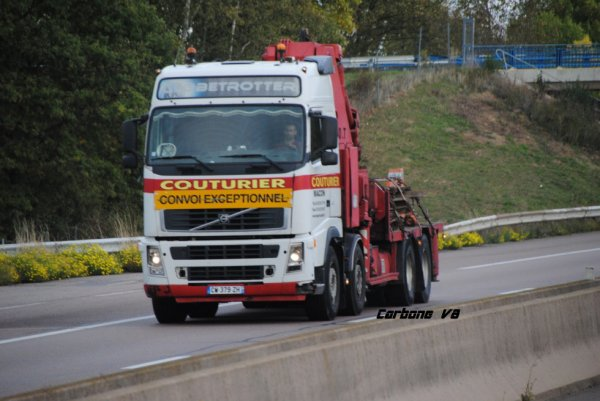 Transport Couturier sur l'A6.