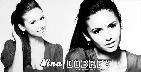 Nina Dobrev dans le rôle de Elena Gilbert et de Katherine Pierce.
