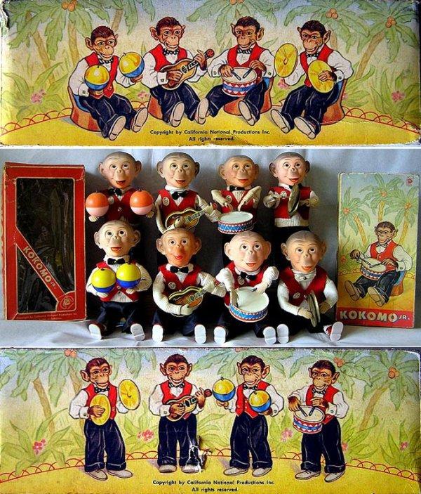 CARL ORIGINAL FAMILLE KOKOMO - DEBOUT N° 268-269-266-267-ASSIS N° 468-469-466-467     1958
