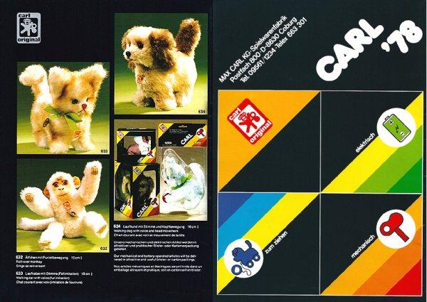 CARL ORIGINAL CATALOGUE DES AUTOMATES DE 1978 NOUVEAUTES COMPLEMENTAIRE DE 1973 - 74 - 75 - 76 - 77
