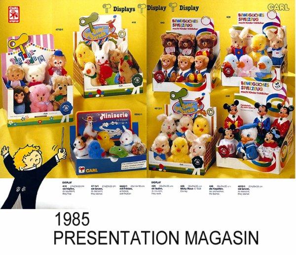CARL ORIGINAL CATALOGUE DES AUTOMATES DE 1985 - 14 PAGES COMPLEMENTAIRES DES AUTRES ANNEES