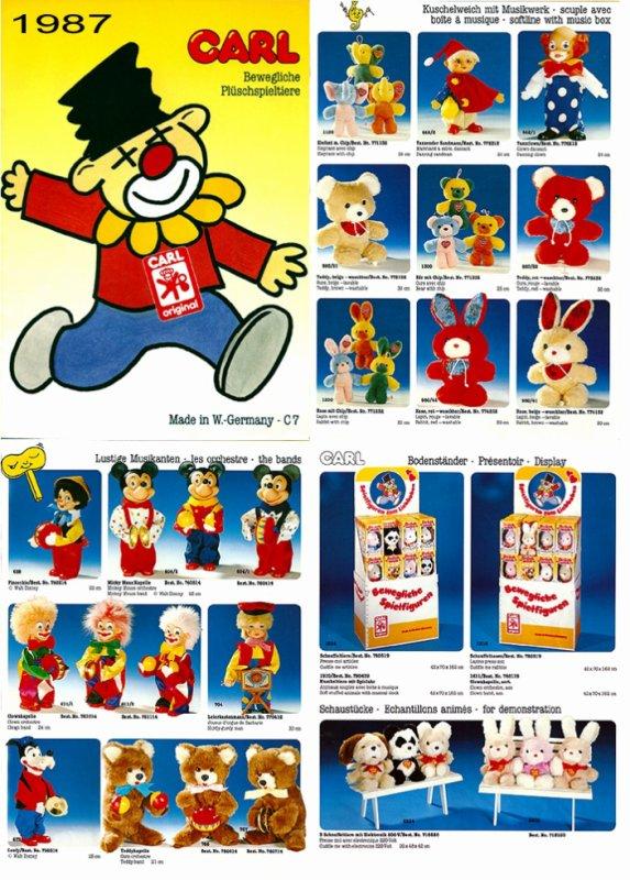 CARL ORIGINAL CATALOGUE DES AUTOMATES DE 1987 (C7) - 3 PAGES COMPLEMENTAIRES DES AUTRES ANNEES