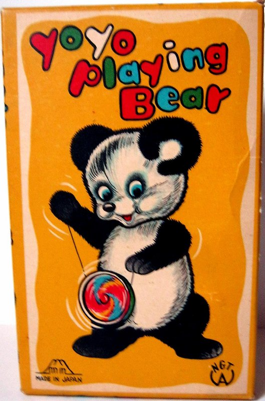 "AUTOMATE MECANIQUE MADE IN JAPAN - FUJI PRESS KOGYO "" YOYO PLAYING BEAR "" "" OURS AVEC YOYO """