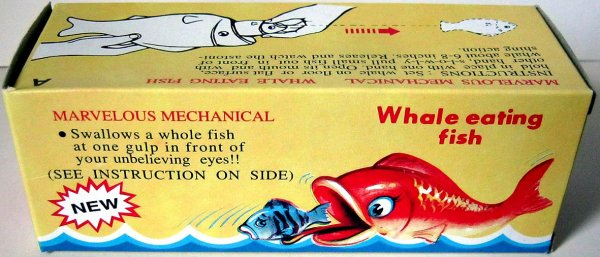 "AUTOMATE MECANIQUE MADE IN CHINA - ?????"" WALES EATING FISH "" "" LE GROS ATTRAPE LE PETIT """