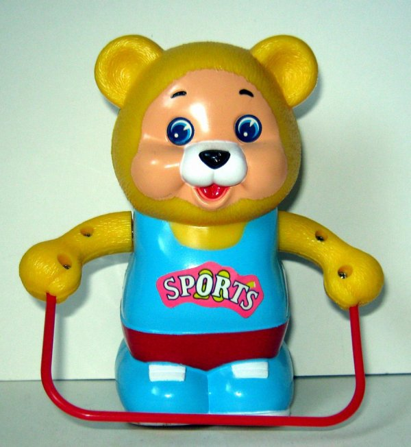 """AUTOMATE A BATTERIE MADE IN CHINA - BESFORD  B.F """" ROPE SKIPPING FUNNY BEAR """" """" OURS QUI SAUTE A LA CORDE """""""