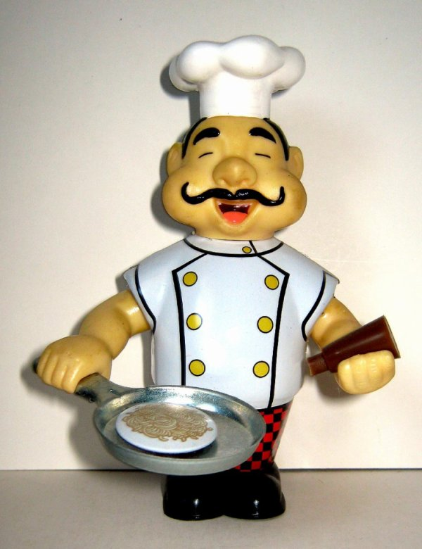 """AUTOMATE MECANIQUE MADE IN CHINA - TM - ROCKET USA """" LOUIE THE CHEF """" """" LOUIE FAIT CUIRE SON STEAK """""""