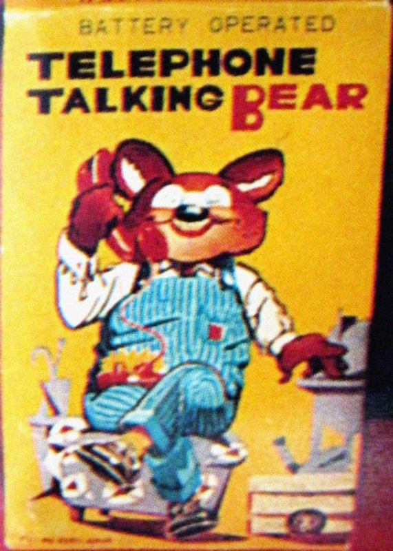 "AUTOMATE A BATTERIE MADE IN JAPAN - TM ( NOMURA ) "" TELEPHONE TALKING BEAR "" "" OURS AVEC SON TELEPHONE "" VOIR VIDEO JOINTE"