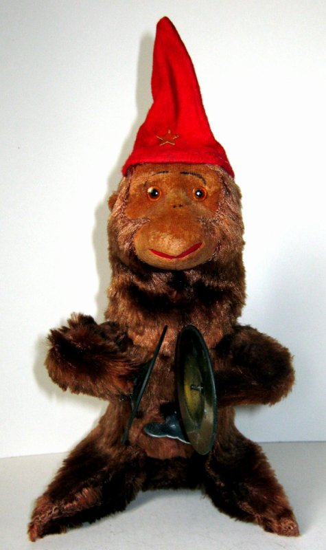 """AUTOMATE MECANIQUE MADE IN JAPAN - ALPS """" BAND LEADER CHIMP """" """" SINGE AVEC CYMBALES """""""