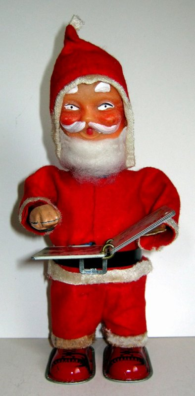 "AUTOMATE MECANIQUE MADE IN JAPAN - ALPS "" SANTA CLAUS READS HIS BOOK "" "" PERE NOEL LIT UN LIVRE """