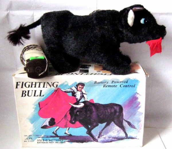 """AUTOMATE A BATTERIE MADE IN JAPAN - ALPS """" FIGHTING BULL """" """" TAUREAU QUI CHARGE """" VOIR VIDEO JOINTE"""