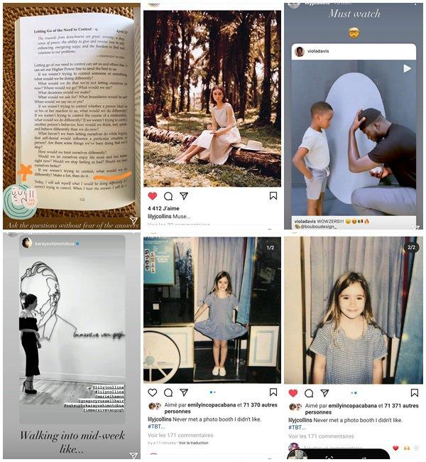 Du 26 Avril au 3 Mai 2021, Lily a posté sur son Instagram