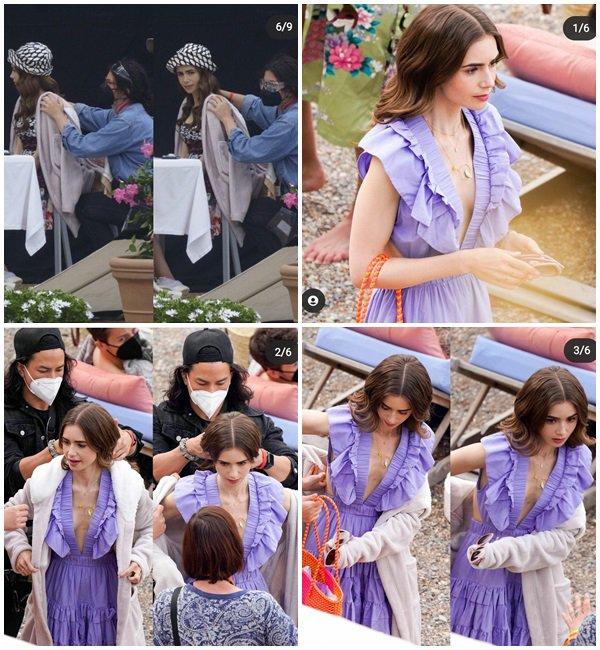 4 Mai 2021 - Lily était sur le tournage de la saison 2 de Emily In Paris