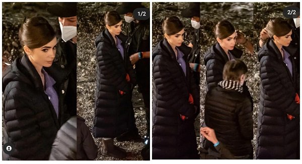 6 Mai 2021 - Lily était sur le tournage de la saison 2 de Emily In Paris