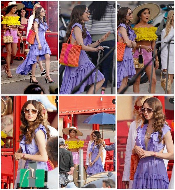 9 Mai 2021 - Lily était sur le tournage de la saison 2 de Emily In Paris