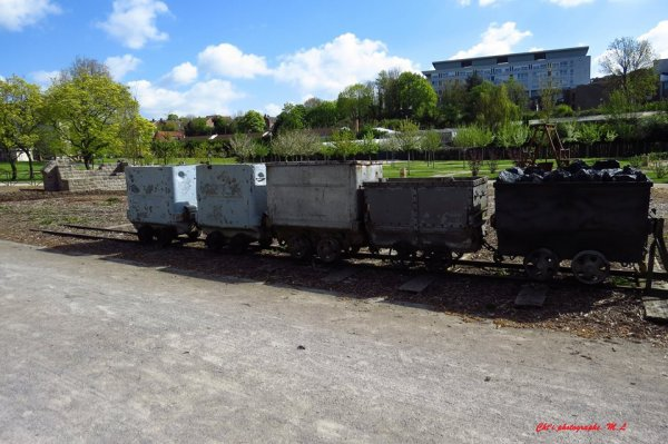 une belle photo des wagonnets d'un jardin public à lièvin
