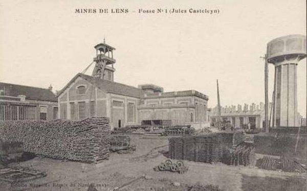 une ançienne photo de fosse n°1 ( jules casteleyn ) compagnies des mines de lens