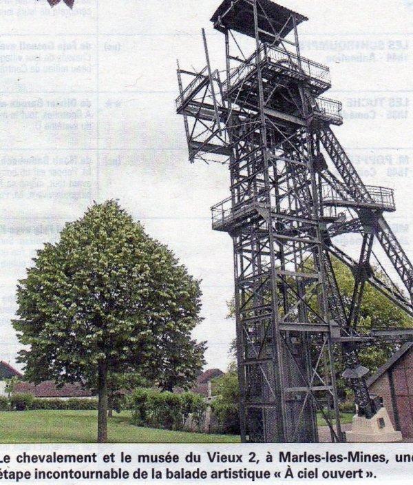 une belle photo du chevalement est le musée du vieux2 de marles les mines