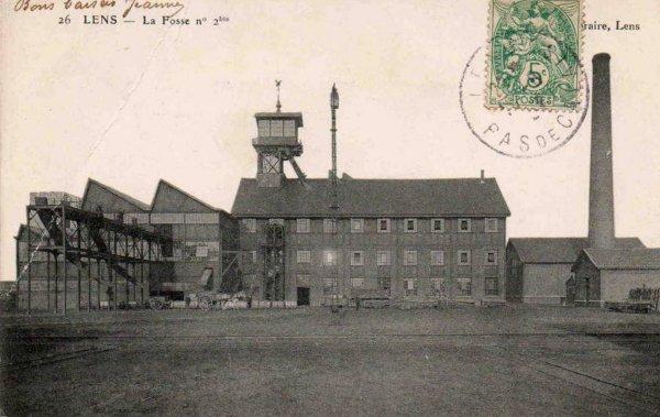 une ançiènne carte postale de fosse 2/2bis des mines de lens