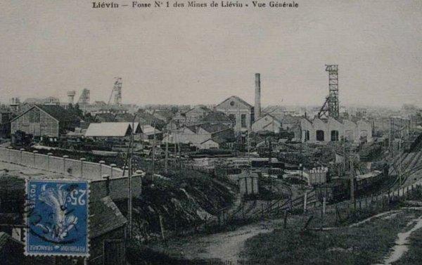 une ançiènne carte postale de fosse 1 est 1bis de lièvin