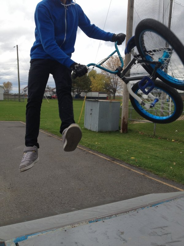 tail-whip sur le cuader