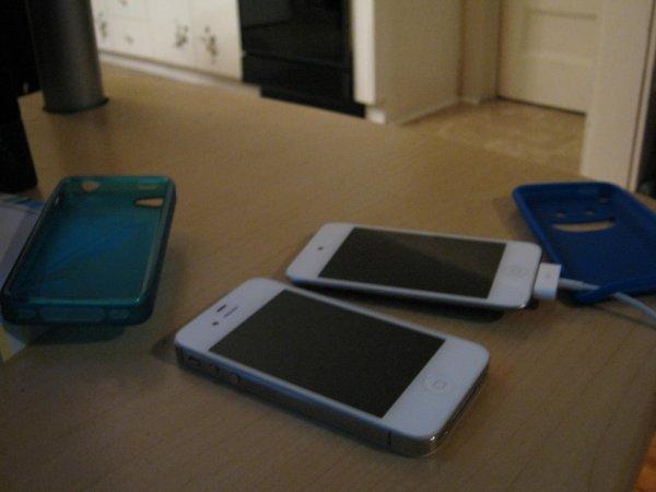 mon iphone et mon ipod lol