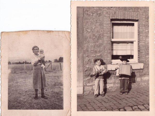 la premiere photo c'est  rachel becker l'autre photo avec la guitard c'est  marcel weigert et a coté c'est son frere albert weigert