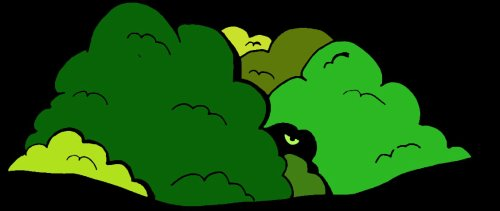 Sandra et la créature des buissons