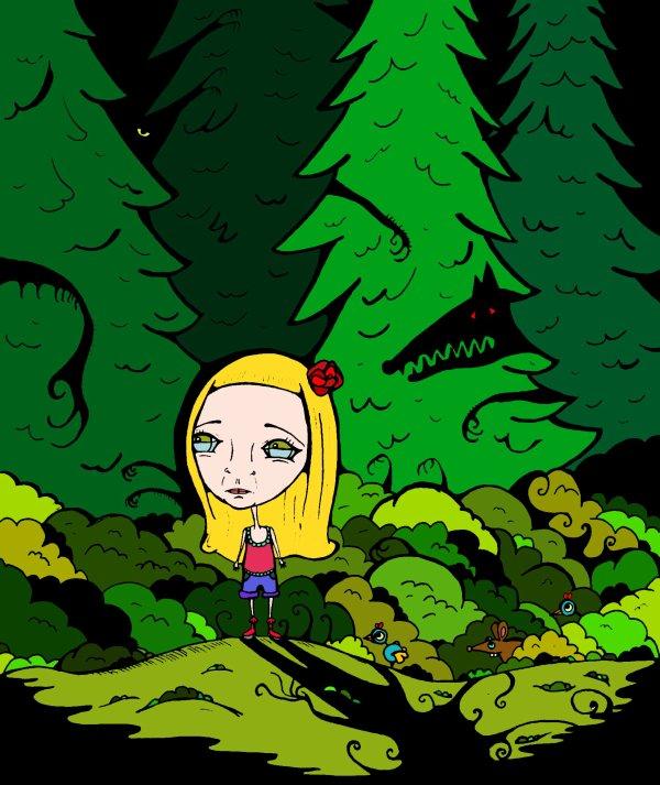 Perdue dans les bois