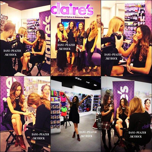 """Danielle s'est rendu à Birmingham pour le """"Claire's Pamper Day """" organiser par Claire's."""