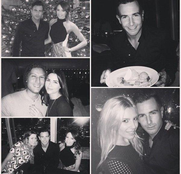 Danielle à la fête d'anniversaire de son ami Aaron Renfree à Londres.