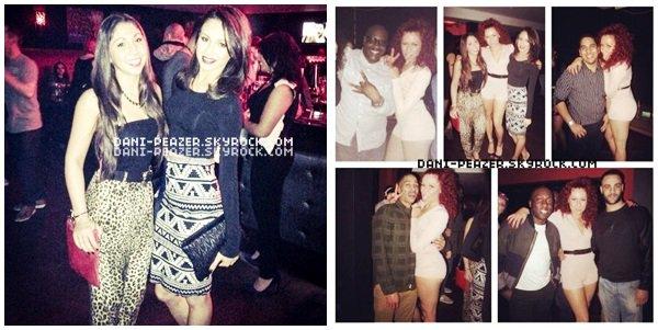 ● Danielle à la fête d'anniversaire de Holly à Londres.