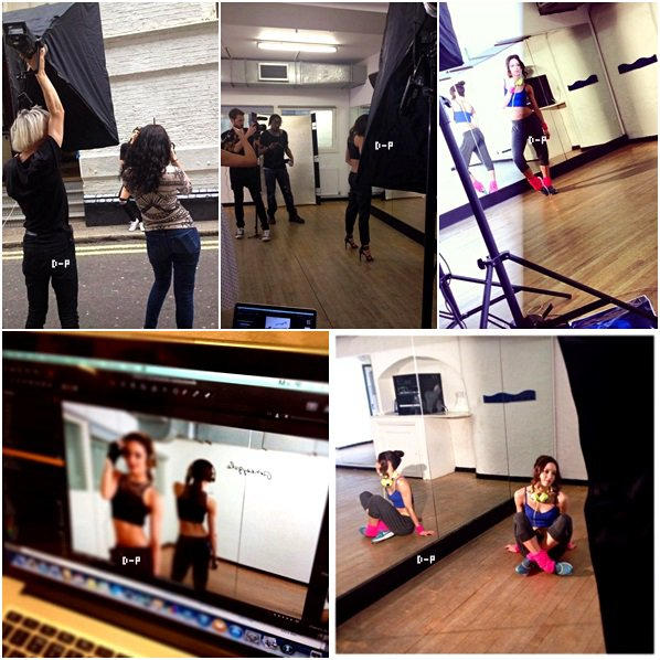 ● Danielle pour un photoshoot de Claire's Europe.