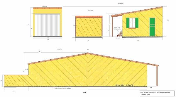 PLAN DU FUTUR GARAGE DE 48M2 SUR LE COTE DE LA MAISON ....19.11.2012