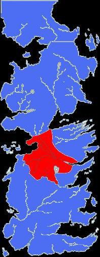 6. A SONG OF ICE AND FIRE - LE TRONE DE FER - Géographie de Westeros : le Conflans fief de la maison Tully