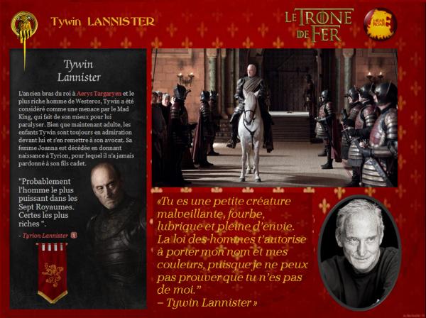 20. Maisons suzeraines : maison Lannister