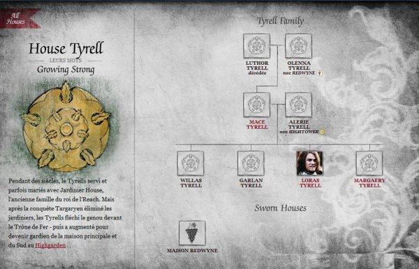 31. Maisons suzeraines : maison Tyrell
